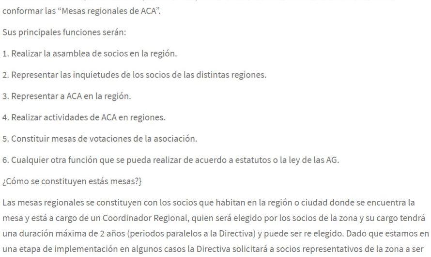 Llamado a conformar Mesas regionales 2014