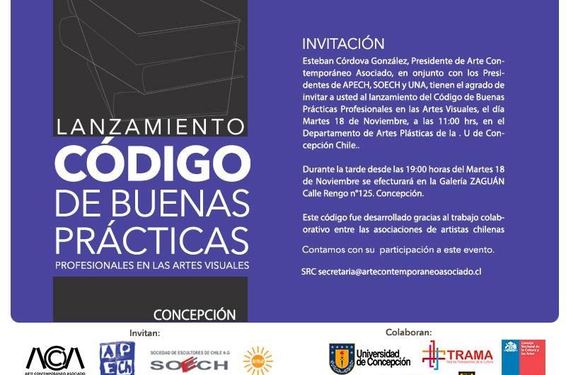 Lanzamiento Código de buenas prácticas profesionales en artes visuales en Concepción