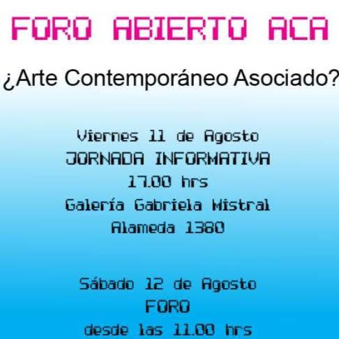 Foro abierto ACA: ¿Arte Contemporáneo Asociado?