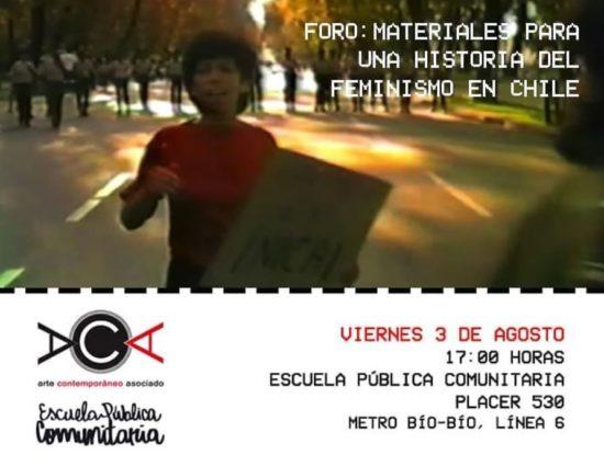 "Foro ""Materiales para una historia del feminismo en Chile"""