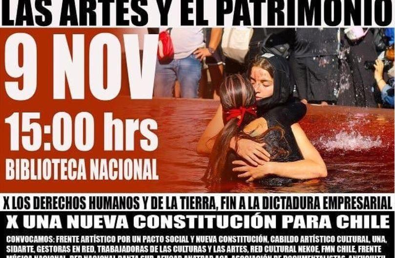 """Acción del 9 de noviembre de 2019 """"Marcha de las culturas, las artes y el patrimonio"""""""