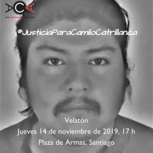 Llamado a velatón conmemorando un año del asesinato de Camilo Catrillanca