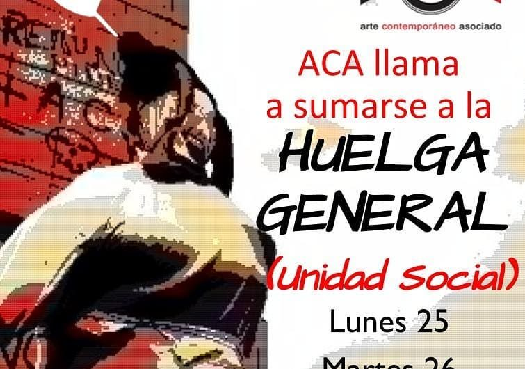 Llamado a adherir a huelga general del 25 y el 25 de noviembre de 2019