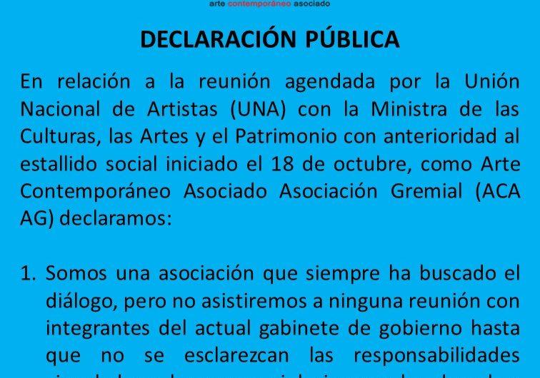 Declaración pública del 2 de noviembre de 2019 sobre Derechos humanos y proceso constituyente