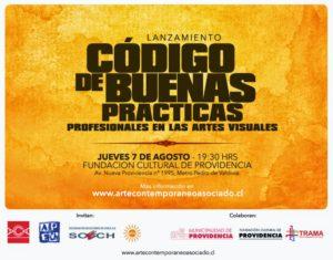 Flyer del lanzamiento del Código de buenas prácticas, 2014