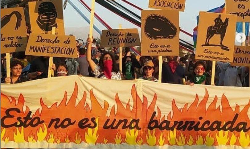"""Acción del 24 de enero de 2020 """"Esto no es una barricada"""""""