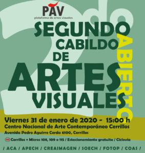 Flyer Segundo Cabildo de Artes Visuales viernes 31 de enero de 2020, PAV