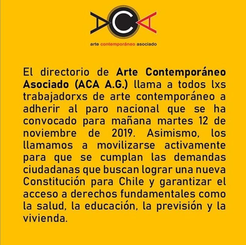 Declaración pública sobre incendio de Centro Arte Alameda