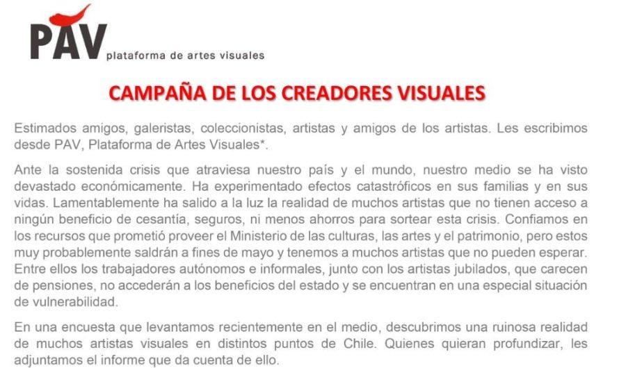 Campaña de los creadores visuales PAV 2020 coronavirus