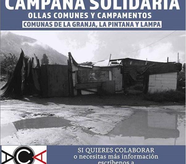 Campaña solidaria campamentos y ollas comunes