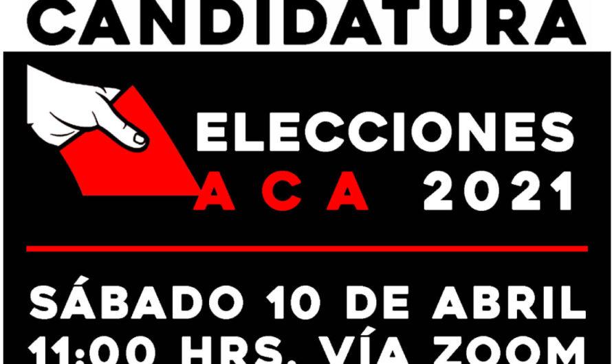 Asamblea para elecciones del Directorio ACA 2021