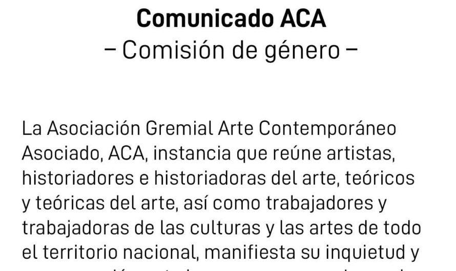 Comunicado de la Comisión de Género ACA