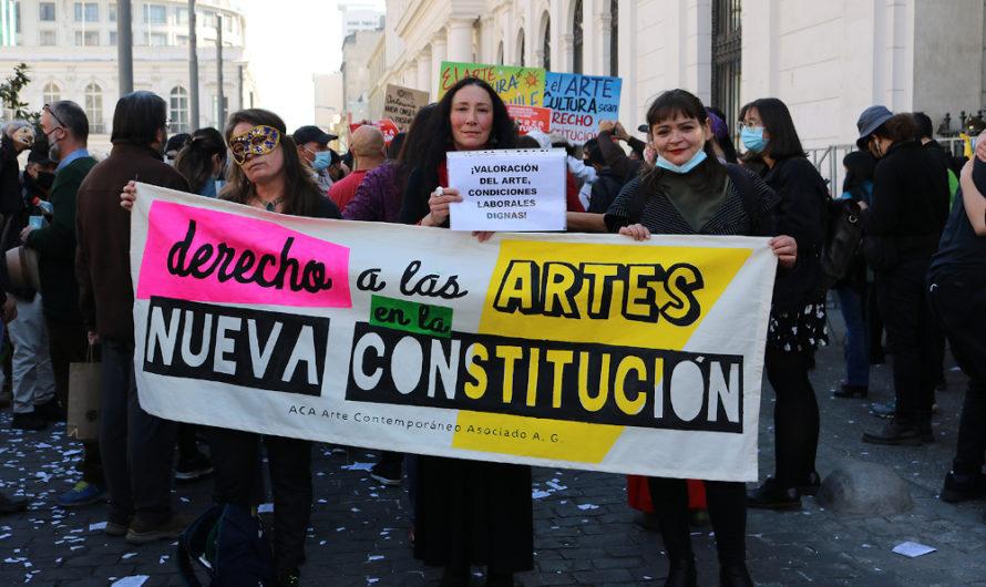 Manifestación por una Comisión de Cultura en la Convención Constitucional